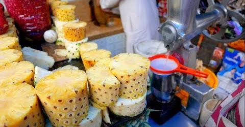 Bạn có dám uống nước ép chanh lựu Ấn Độ Indian streetfood Ẩm thực đường phố Ấn độ