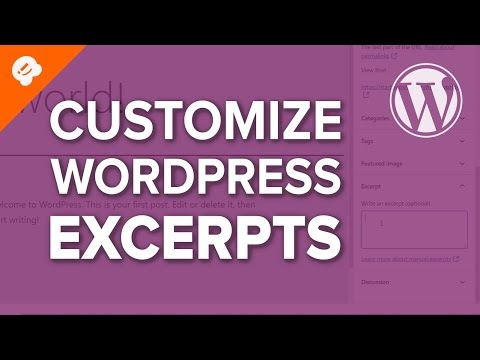 How to create WordPress Excerpts