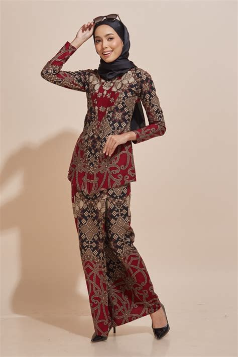 kara kebaya batik code kr habra fashion gallery