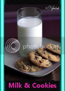 chocochip cookie milk