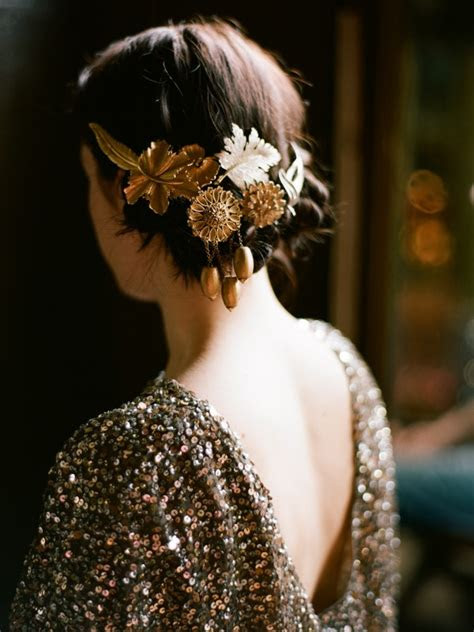 wedding hair accessories  sparkly  sight