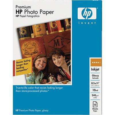 Hp Inkjet Photo Paper 100 Sheets 85 X 11 Inches Semi Gloss 45