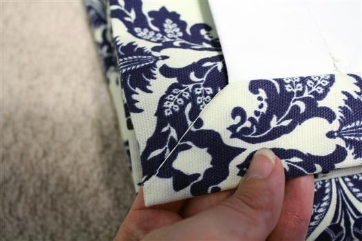 Blind stitch mitered corner panels