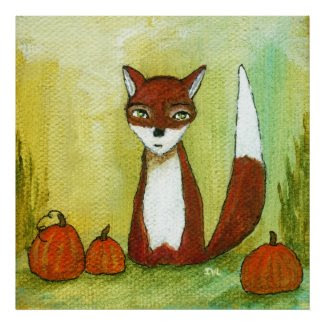 Making Choices Whimsical Woodland Fox Art Painting Posters