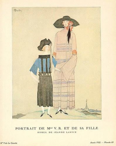 Charles Martin, Portrait de Mme V.R. et de sa Fille, 1922