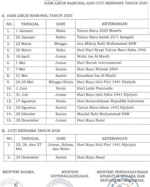Kalender 2020 Indonesia Hari Raya Idul Fitri