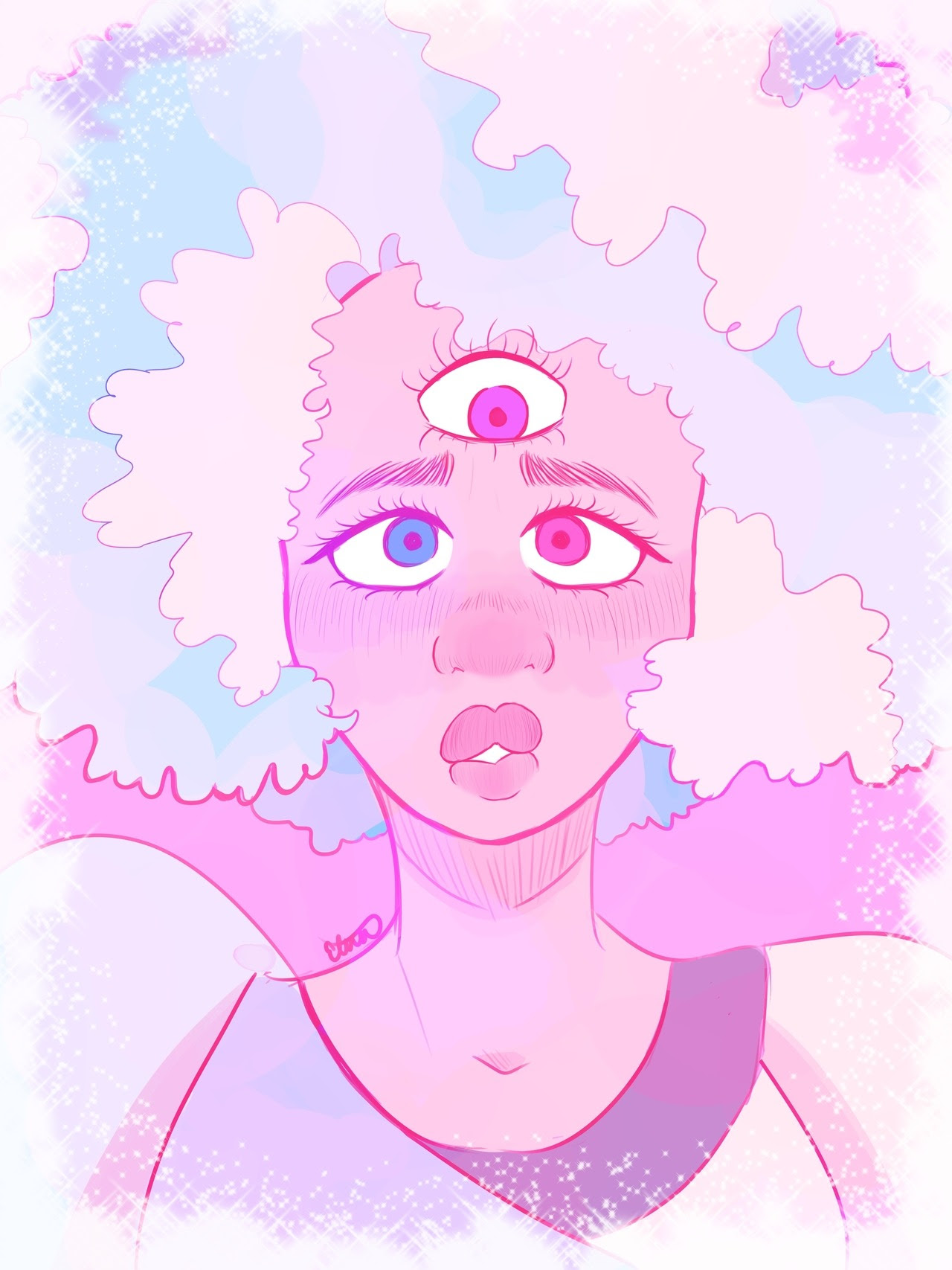my obsession with cotton candy garnet continues to grow stronger