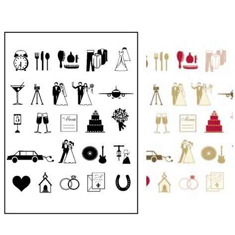StickyTiger   Wedding Icon Stamp Set