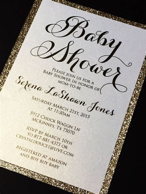 Baby Shower Invitation   Glitter Baby Shower Invitations