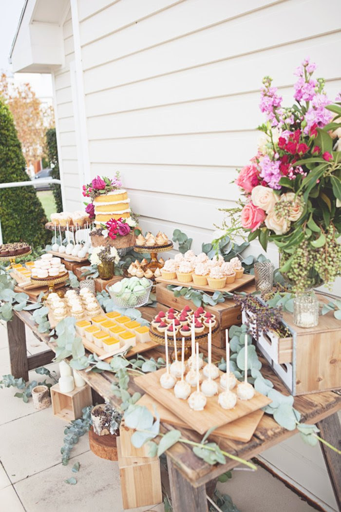 Kara s Party Ideas Rustic Bridal Shower via Kara s Party
