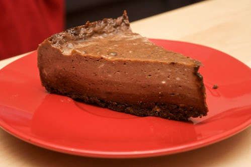 triple layer chocolate cheezecake