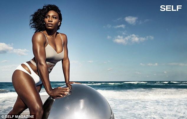 """Fazendo seu ponto: Em uma entrevista com a revista, Serena dirigiu-se aos comentários frequentes feitas sobre seu corpo, dizendo: """"Eu nunca mudaria nada sobre isso '"""