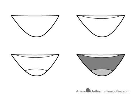 draw anime  manga mouth expressions tutorial