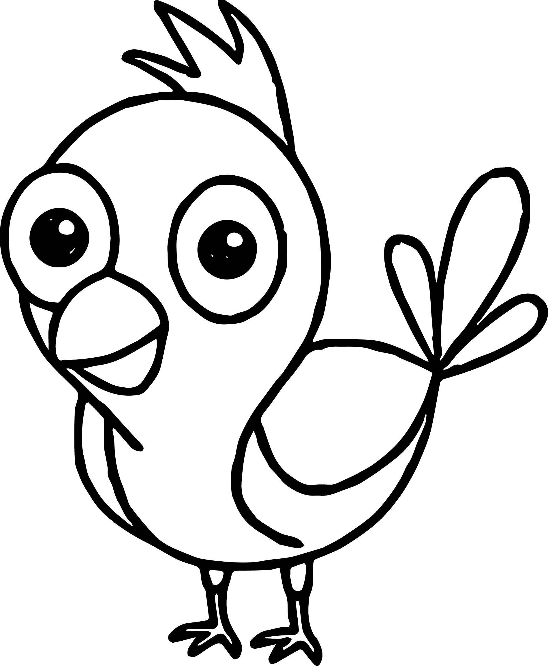Funny Bird Coloring Page Wecoloringpage Com Coloring Pages