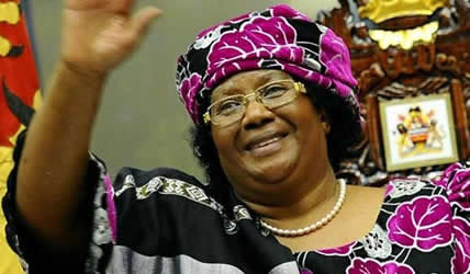 President Joyce Banda of Malawi. She will visit Zimbabwe for the International Trade Fair in Bulawayo. by Pan-African News Wire File Photos