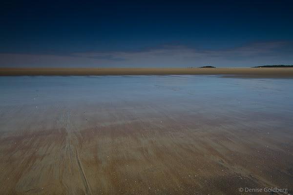 water, sand, straight lines, Popham Beach State Park, Maine