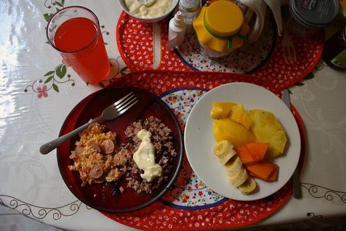 Costa Rican breakfast of gallo pinto