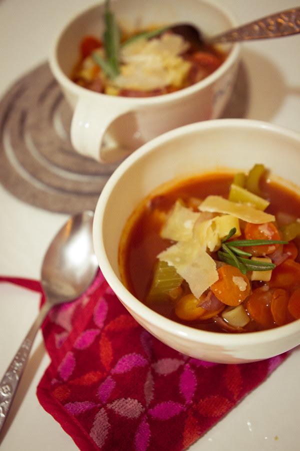 tomato soup with parmigiano reggiano