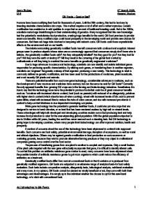 genetic modified food essay