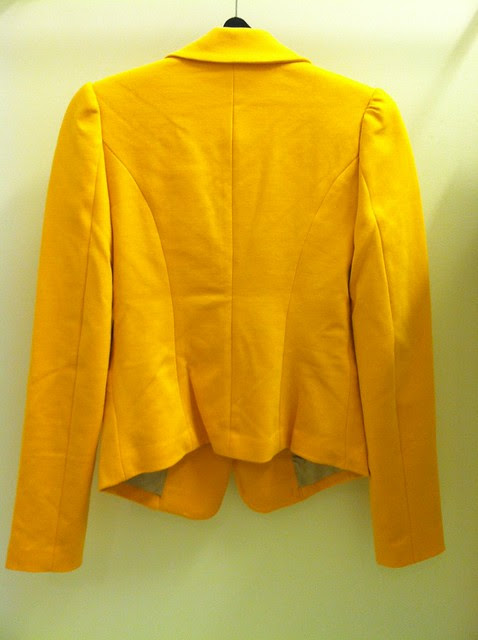 Tinley Road Bleeker Blazer in Canary Yellow, sz XS (back)