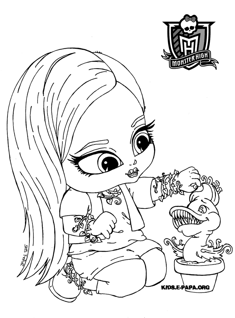 Monster High Venus Coloring Pages At Getdrawingscom Free For