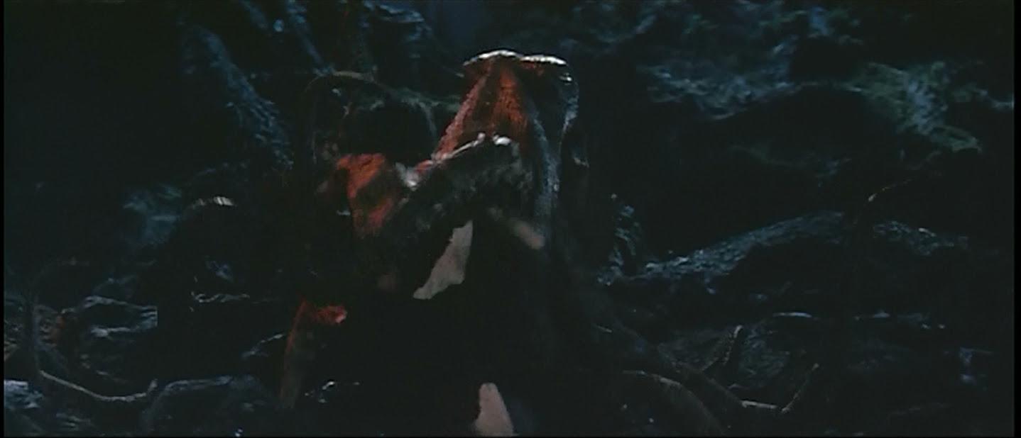 Frankenstein wraps some monster tentacles around himself.