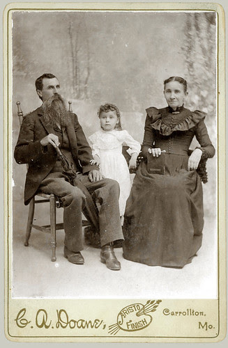 cabinet card Family in studio