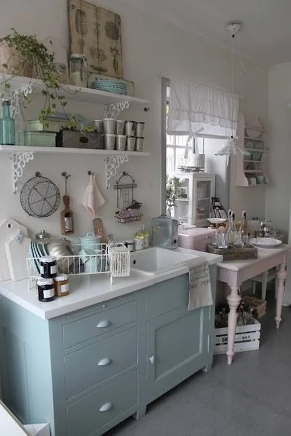 35 Awesome Shabby Chic Kitchen Designs, Accessories and Decor Ideas  For Creative Juice