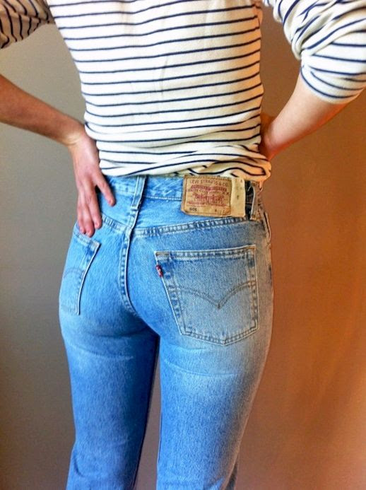 24 Le Fashion Blog Shots That Prove Levis Make Your Butt Look Amazing Good Vintage Jeans Via Etsy