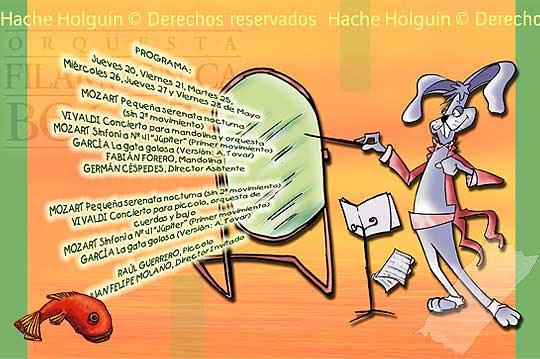 Diseño de programa para El concierto conejo de la Orquesta Filarmónica de Bogotá