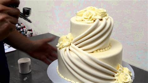 Make Wedding cakes with Roses   YouTube