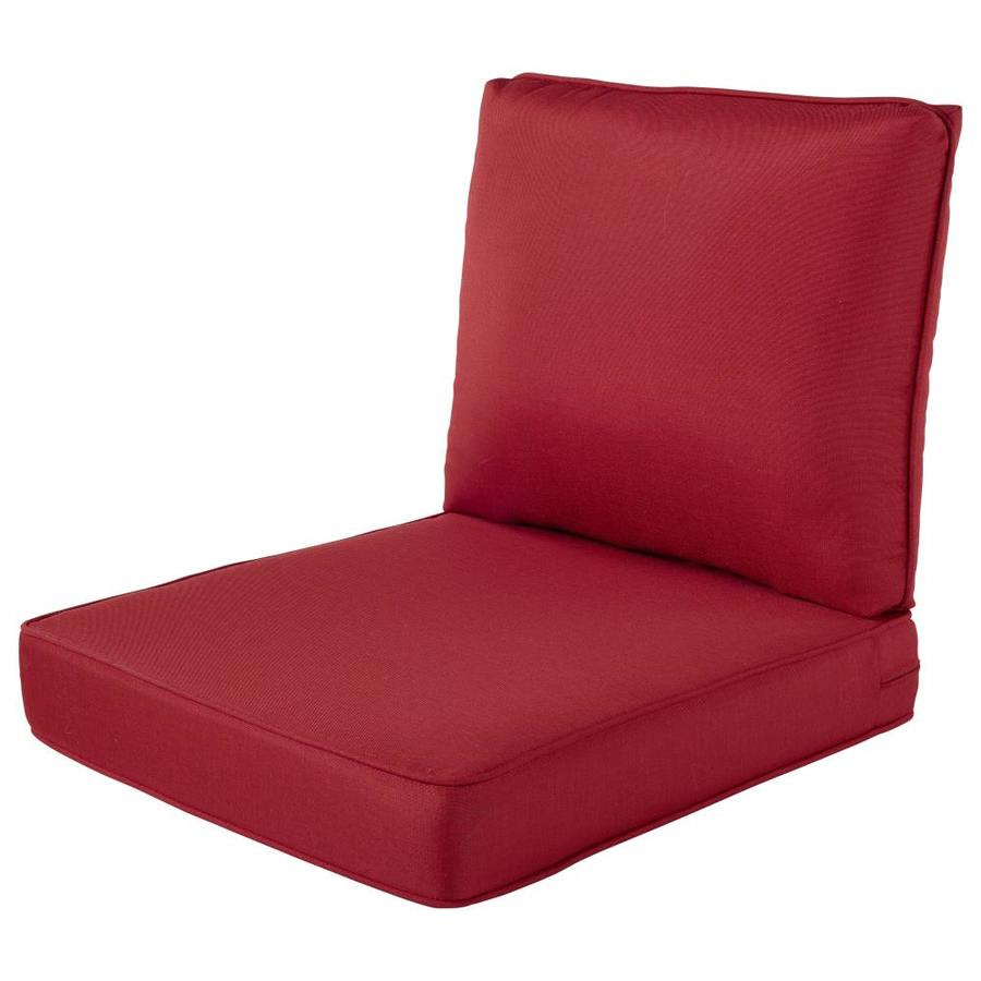 Haven Way Solartex 2 Piece Bright Red Deep Seat Patio Chair Cushion In The Patio Furniture Cushions Department At Lowes Com