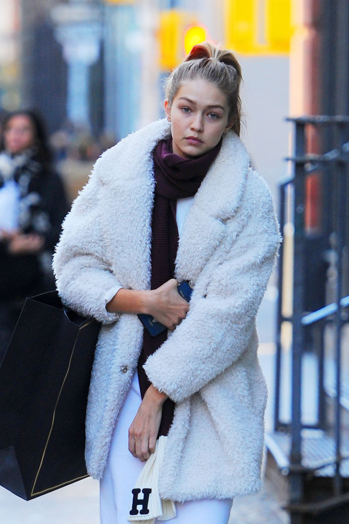 GIGI HADID Out and About in New York 10/19/2015