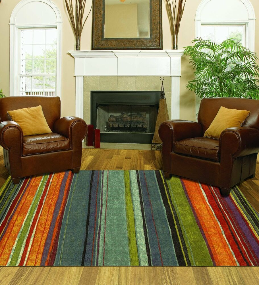 Small Living Room Rug Ideas: Large Area Rug Colorful 8x10 Living Room Size Carpet Home