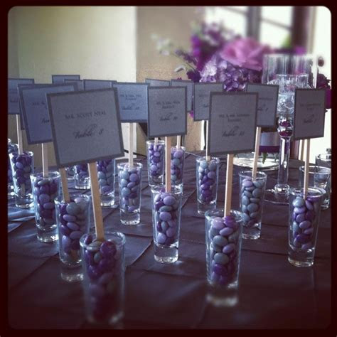 Seating assignments and wedding favors   I love it when