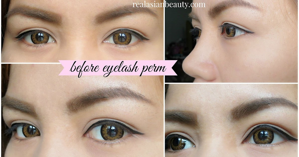 Real Asian Beauty Eyelash Perm Before And After