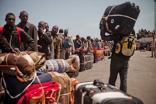 Niger workers forced to return home after their jobs were destroyed by the imperialist war against Libya. Millions of jobs were eradicated by the imperialists and their puppet NTC rebel forces. by Pan-African News Wire File Photos