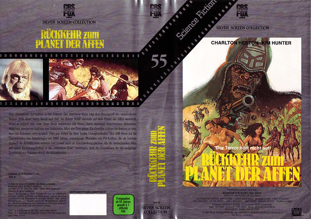 Beneath The Planet Of The Apes (VHS Box Art)