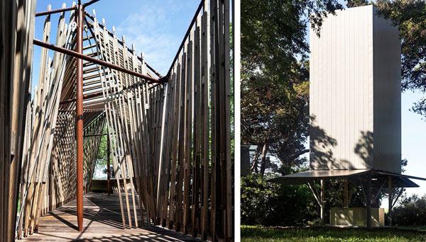 Bizarre outdoor biennale chapels