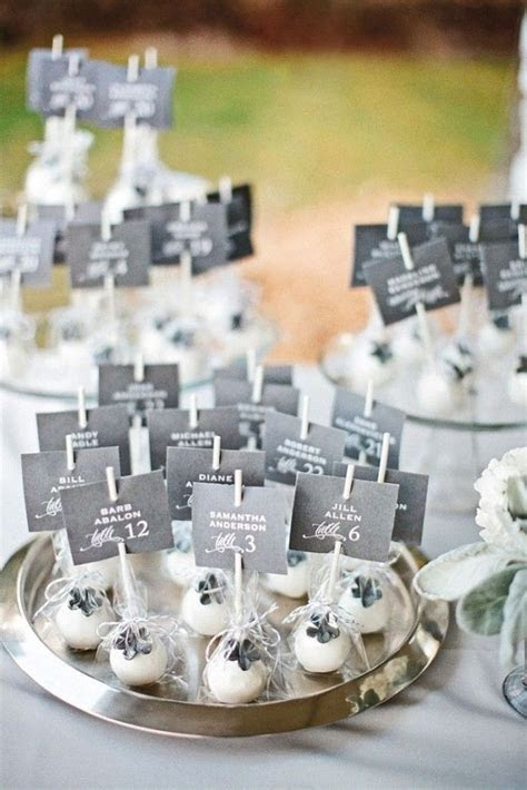 triditional wedding place cards with desserts   Member