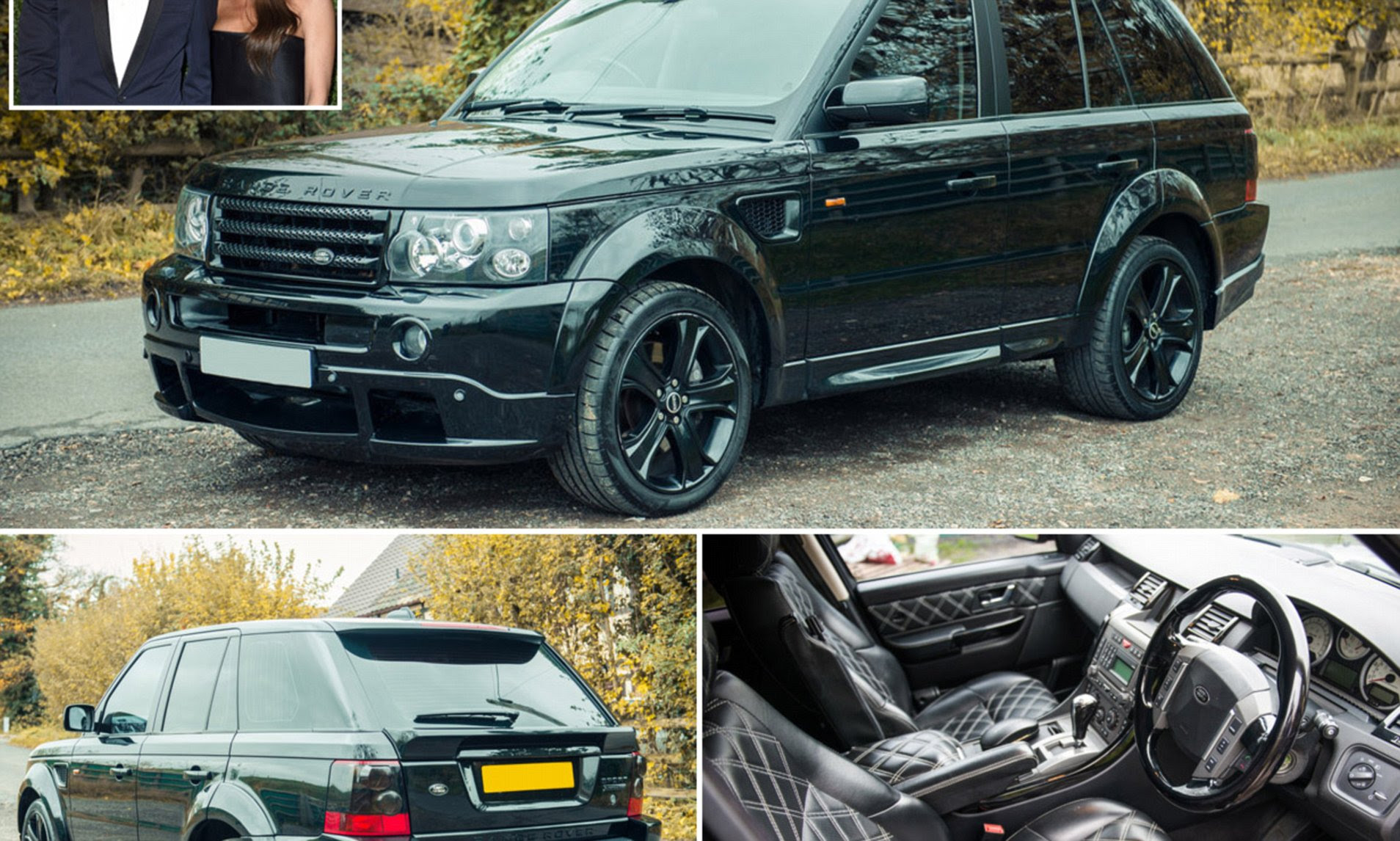 Image result for A Range Rover Sport built exclusively for David Beckham is set to sell for more than £30,000 – £70,000 less than he paid for it. Beckham paid £100,000 to get the flash dark green 4×4 upgraded with his own specific features in 2007,Mailonline reports. Experts installed a unique interior, which included hand-stitched quilted leather seats, a bespoke sound system and twin rear screens that his sons Brooklyn and Romeo could use to play PlayStation. It also has a plaque with 'Designed for David Beckham' on it and DVLA records list the former England captain, 42, as the first owner.