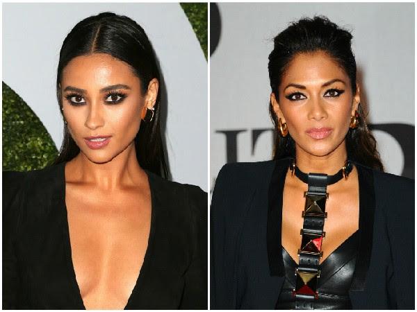 Shay Mitchell e Nicole Scherzinger – A semelhança entre a modelo Shay e a atriz Nicole pode ser explicada através dos ancestrais das duas. Ambas são descendentes de filipinos. (Foto: Getty Images)