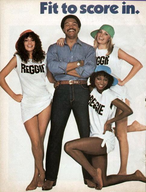 murhjani jeans ad - reggie jackson 1980