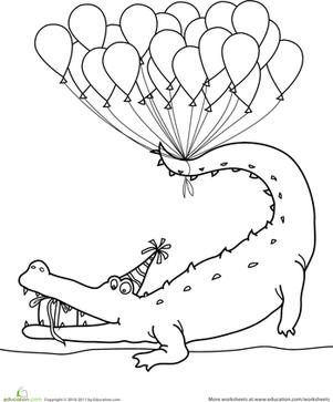 happy birthday coloring  worksheet  education