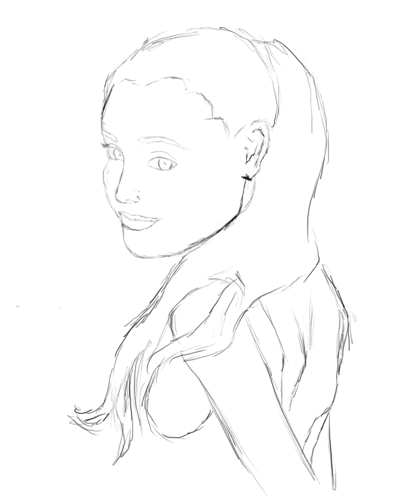 Ariana Grande Drawing At Getdrawingscom Free For Personal Use