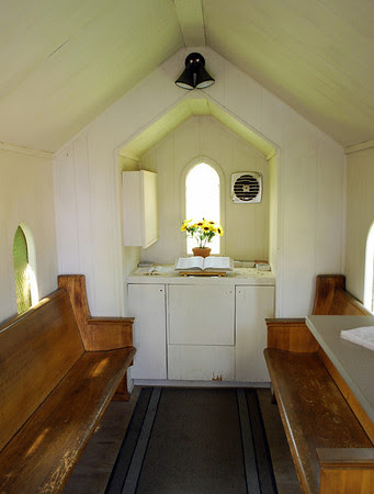Inside view of the Living Water Wayside Chapel