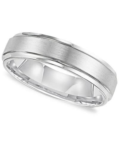 Triton Men's White Tungsten Carbide Ring, Comfort Fit