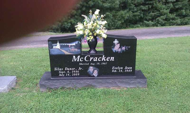 Church Cross Painted Tombstone Design Monument With Flowers Holder Acme Stone Company
