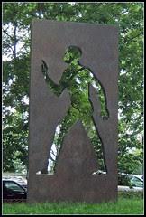 Invisible Man Sculpture, Harlem, NY