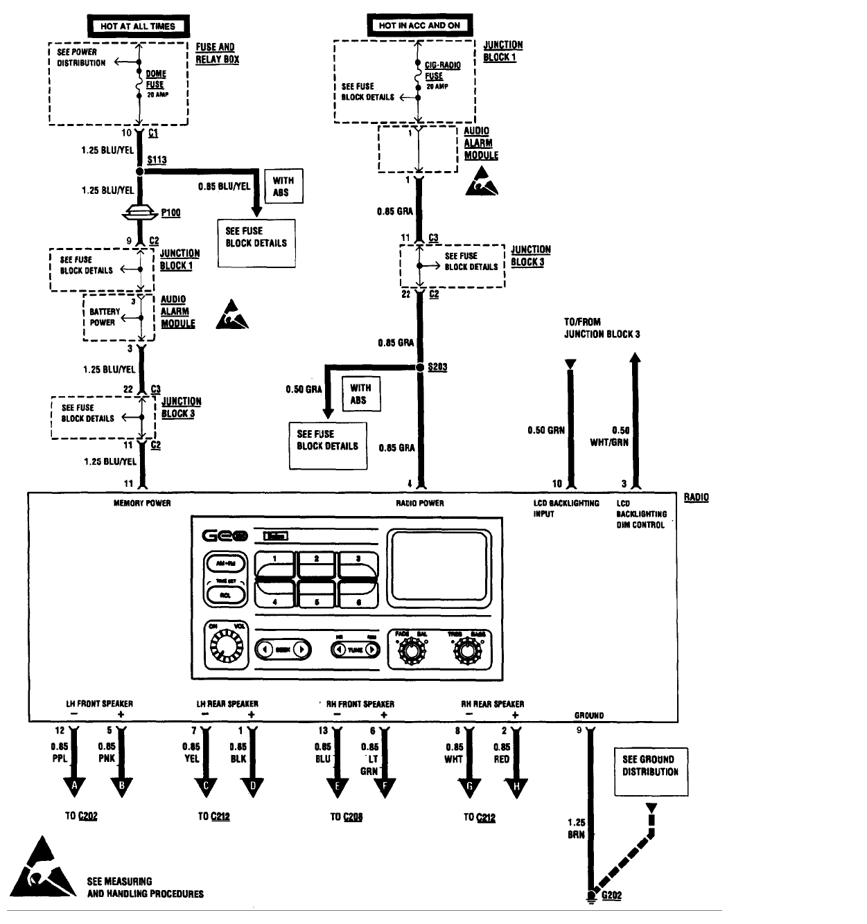 96 Geo Metro Fuse Block Diagram